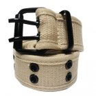 FC970 FABRIC BELT DOUBLE HOLE (BEIGE)