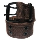 FC970 FABRIC BELT DOUBLE HOLE( BROWN)
